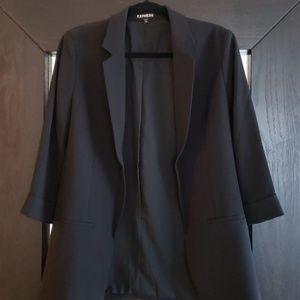 Express Boyfriend Blazer Size Medium Black